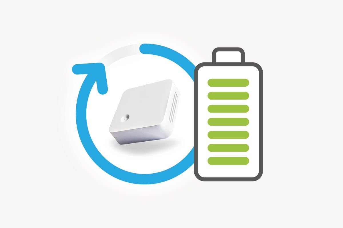 Lange Batterielaufzeit